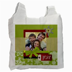 Christmas By Joely   Recycle Bag (two Side)   K4zpdeanuico   Www Artscow Com Front