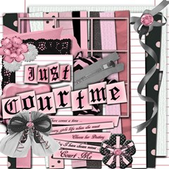 Just CourtMe ScrapBook Page 12  x 12  by iiScrap
