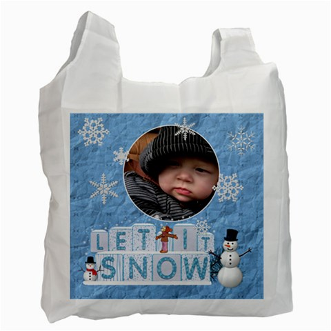 Let It Snow Recycle Bag (1 Side) By Lil    Recycle Bag (one Side)   Vl9etdc1gono   Www Artscow Com Front
