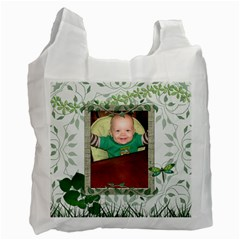 Green Nature Recycle Bag (2 Sided) By Lil    Recycle Bag (two Side)   Nsqvbrrlbret   Www Artscow Com Front