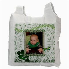 Green Nature Recycle Bag (2 Sided) By Lil    Recycle Bag (two Side)   Nsqvbrrlbret   Www Artscow Com Back