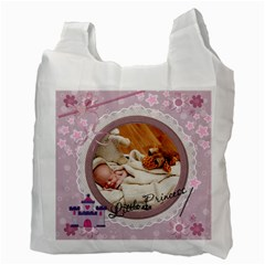 Little Princess Recycle Bag (2 Sided) By Lil    Recycle Bag (two Side)   Bw4noi1hr1ra   Www Artscow Com Back