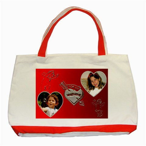 My Valentine Red Tote By Deborah   Classic Tote Bag (red)   Ibvyz4s887cf   Www Artscow Com Front