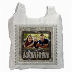 Adorable Family Recycle Bag (2 Sided) By Lil    Recycle Bag (two Side)   72xdwlg8pq4m   Www Artscow Com Front