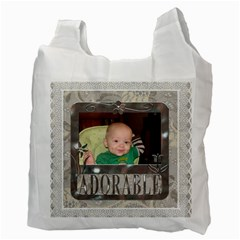 Adorable Family Recycle Bag (2 Sided) By Lil    Recycle Bag (two Side)   72xdwlg8pq4m   Www Artscow Com Back