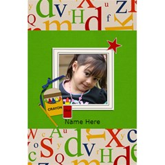 Notebook: Back To School By Jennyl   5 5  X 8 5  Notebook   S7saa4xkxz12   Www Artscow Com Front Cover