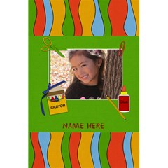 Notebook: Back To School3 By Jennyl   5 5  X 8 5  Notebook   Rp5anyso7th5   Www Artscow Com Front Cover