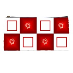 White And Red Pencil Case By Deborah   Pencil Case   Unbsj93v9eim   Www Artscow Com Front