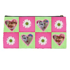 Pink And Green Pencil Case By Deborah   Pencil Case   Rvxdpidymwzp   Www Artscow Com Back