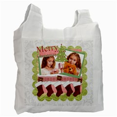 Christmas By Joely   Recycle Bag (two Side)   Ynn7am5cn04d   Www Artscow Com Front