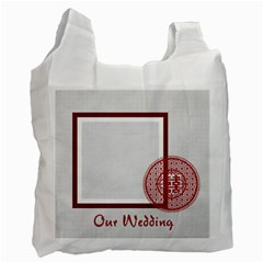 Wedding By Divad Brown   Recycle Bag (two Side)   Ctuu0nkl18nl   Www Artscow Com Front