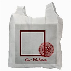 Wedding By Divad Brown   Recycle Bag (two Side)   Ctuu0nkl18nl   Www Artscow Com Back
