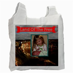 Land Of The Free Recycle Bad Two Sides By Jolene   Recycle Bag (two Side)   Ok1b5zdo67s1   Www Artscow Com Front