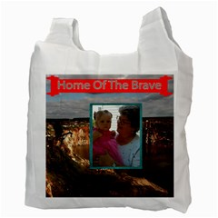 Land Of The Free Recycle Bad Two Sides By Jolene   Recycle Bag (two Side)   Ok1b5zdo67s1   Www Artscow Com Back