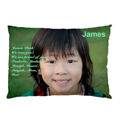 James by KUNSOON PARK 26.62 x18.9 Pillow Case