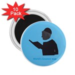 World s Best Father (Hebrew) 2.25  Magnet (10 pack)