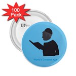World s Best Father (Hebrew) 2.25  Button (100 pack)