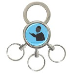 World s Best Father (Hebrew) 3-Ring Key Chain