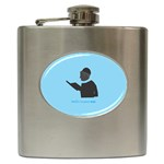 World s Best Father (Hebrew) Hip Flask (6 oz)