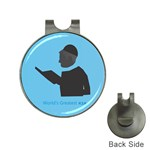 World s Best Father (Hebrew) Golf Ball Marker Hat Clip