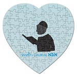 World s Best Father (Hebrew) Jigsaw Puzzle (Heart)