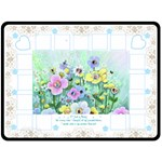 Flower Garden Blanket - Fleece Blanket (Extra Large)
