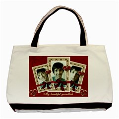 Red Triple Frame Bag By Claire Mcallen   Basic Tote Bag (two Sides)   Cbl73a2qadvw   Www Artscow Com Front