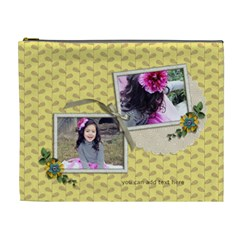 Xl Cosmetic Bag: Moments To Hold By Jennyl   Cosmetic Bag (xl)   Yq9y6s1rux68   Www Artscow Com Front