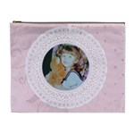 Pink Love lace cosmetic bag - Cosmetic Bag (XL)