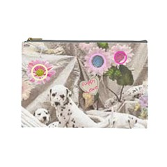 Puppy Love 2 By Birkie   Cosmetic Bag (large)   Ewm0phophvgj   Www Artscow Com Front