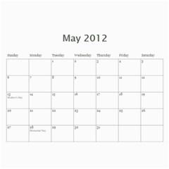 Sarita Solo 1 By Fernando Velasco Perez   Wall Calendar 11  X 8 5  (12 Months)   2f1n7r5176ij   Www Artscow Com May 2012