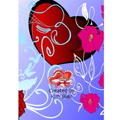 Valentine Card 1 By Kim Blair   Greeting Card 5  X 7    28wrglrmrcc0   Www Artscow Com Back Cover