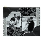 Deluxe Black and White XL Cosmetic Bag - Cosmetic Bag (XL)