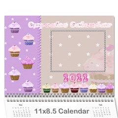 2015 Cupcake Calendar Starting In February By Claire Mcallen   Wall Calendar 11  X 8 5  (12 Months)   Lbagdphuom09   Www Artscow Com Cover