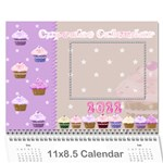 2013 Cupcake Calendar starting in February - Wall Calendar 11 x 8.5 (12-Months)