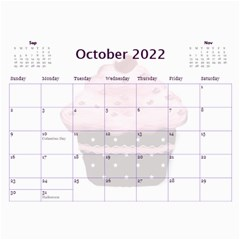 2015 Cupcake Calendar Starting In February By Claire Mcallen   Wall Calendar 11  X 8 5  (12 Months)   Lbagdphuom09   Www Artscow Com Oct 2015
