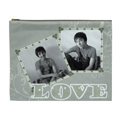 Classic Love Grey Cosmetic Bag Xl By Claire Mcallen   Cosmetic Bag (xl)   Pyljauyai3b0   Www Artscow Com Front