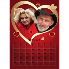 Our Love Calendar (any Year) By Deborah   Desktop Calendar 6  X 8 5    Gcg8mntloca7   Www Artscow Com Jul 2019