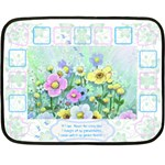 Flower Mini Blanket - Mini Fleece Blanket