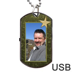 Military Love (2 Sided) Dog Tag Usb By Deborah   Dog Tag Usb Flash (two Sides)   E2oy8xgrm968   Www Artscow Com Front