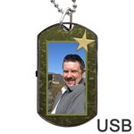 Military Love (2 sided) Dog Tag USB - Dog Tag USB Flash (Two Sides)