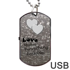 Military Love (2 Sided) Dog Tag Usb By Deborah   Dog Tag Usb Flash (two Sides)   E2oy8xgrm968   Www Artscow Com Back