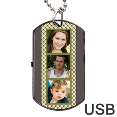 6 Frame Dog Tag Usb (2 Sided) By Deborah   Dog Tag Usb Flash (two Sides)   Kj5zc32m63oj   Www Artscow Com Front