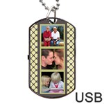 6 frame Dog Tag USB 2 (2 sided) - Dog Tag USB Flash (Two Sides)