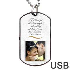 Marriage Dog Tab Usb (2 Sided) By Deborah   Dog Tag Usb Flash (two Sides)   O5do688wwrdz   Www Artscow Com Front