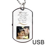 Marriage Dog Tab USB (2 Sided) - Dog Tag USB Flash (Two Sides)