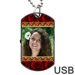 Rose Romance Dog Tag USB - Dog Tag USB Flash (One Side)