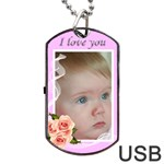 Love You Dog Tag USB (2 sided) - Dog Tag USB Flash (Two Sides)