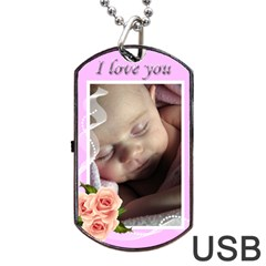 Love You Dog Tag Usb (2 Sided) By Deborah   Dog Tag Usb Flash (two Sides)   Ct603dn3h1x0   Www Artscow Com Back