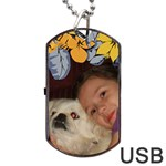 flower framed USB two sides - Dog Tag USB Flash (Two Sides)
